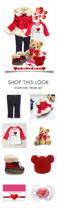 """""""Fashion Baby Girl - Valentine's Day Outfit"""" by sgolis ❤ liked on Polyvore featuring Steiff, women's clothing, women, female, woman, misses and juniors"""