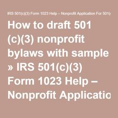 How To Draft C Nonprofit Bylaws With Sample IRS C - 501c3 bylaws template