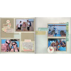 Sunshine Getaway Fast to Fabulous Scrapbook Project Idea from Creative Memories - Available while supplies last until February 2013.