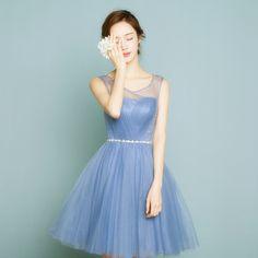 Dusty blu womans donna formale sexy abiti corti partito 2017 vestito  elegante abiti di sera di d7d2b139c8d