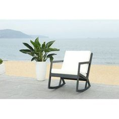 Outdoor Rocking Chairs for your patio! We have plenty of rocking chairs for your porch, balcony, or patio. Rocking chairs are beautiful and wonderful for your home. Teak Rocking Chair, Outdoor Rocking Chairs, Wicker Chairs, Patio Chairs, Pool Furniture, Outdoor Furniture, Outdoor Sofas, Furniture Deals, House Furniture
