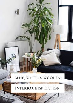 Blue, White & Wooden Interior Inspiration - Apartment Number 4