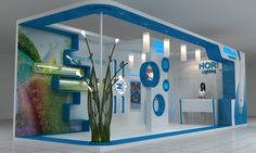 HORI Lighting Exhibition Booth by Ihsan Indra Bekti, via Behance