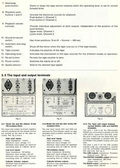 1962 Service manual page showing controls  for the Tandberg Series 6x tape recorder in Phantom Productions' vintage reel 2 reel tape recording collection