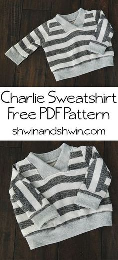 Charlie Sweatshirt    Free PDF Pattern