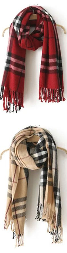 Plaid blanket scarf is so classic and versatile .Renew your closet with this quality plaid scarf.There have four and more colors for you .