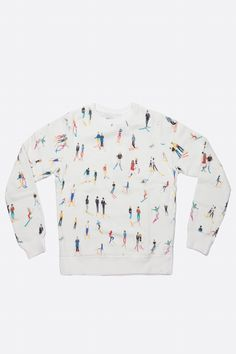 GKERO - SWEAT SKI | CENTRE COMMERCIAL Awesome Shirts, Cool Shirts, Tee Shirts, Bon Look, Kids Skis, Centre Commercial, Ski Sweater, Autumn Outfits, Print Ideas