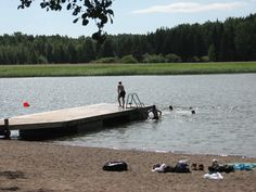 The beach of Kallvik (Espoo, Finland).