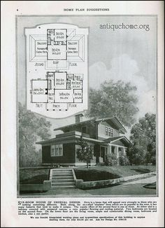 The Daily Bungalow Cottages And Bungalows, Porch Flooring, Vintage House Plans, Vintage World Maps, Deck, Floor Plans, Houses, How To Plan, Architecture