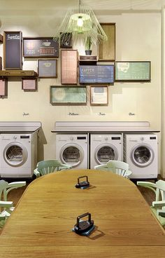 30 best laundromats images on pinterest laundry room laundry and wasbar laundromat bar hair salon by pinkeye ghent 04 wasbar laundromat bar hair salon by solutioingenieria Choice Image