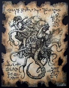 Want to discover art related to cthulhu? Check out inspiring examples of cthulhu artwork on DeviantArt, and get inspired by our community of talented artists. Cthulhu Art, Call Of Cthulhu, Arte Horror, Horror Art, Necronomicon Lovecraft, Lovecraft Cthulhu, Hp Lovecraft, Lovecraftian Horror, Eldritch Horror