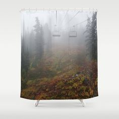Foggy mountains fall morning Shower Curtain by viivaniina Foggy Mountains, Autumn Morning, Nature Decor, Nature Photography, Tapestry, Curtains, Shower, Fall, Artwork