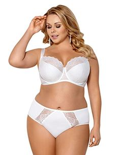 7606f9427 British Womens Blanca Ecru Cream Floral Lace Padded Underwired Plus Size  Full Cup Bra  UK
