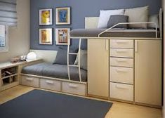 Space Saving for Kids Small Bedroom Design Ideas By Sergi Mengot Two Beds in Very Small Kids Bedroom Design Ideas By Sergi Mengot – Home Des...
