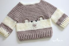 ideas crochet baby clothes patterns newborns repeat crafter me Crochet Baby Sweaters, Crochet Baby Clothes, Baby Blanket Crochet, Baby Knitting, Knit Crochet, Free Crochet, Crochet Zebra, Knit Sweaters, Chunky Crochet