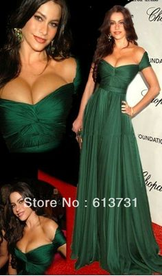 cannes film festival 2014 | 2013 Cannes Film Festival Oscar Awards Off the Shoulder V Neck Emerald ...