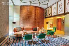 A Signature Hotel Design of Patricia Urquiola - Room Mate Giulia Hotel in Milan, Italy Patricia Urquiola, Hotel Milano, Milan Hotel, London Hotels, Design Hotel, Lobby Design, Design Offices, Modern Offices, Custom Furniture