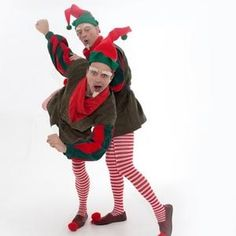 Comedy Elves for hire in London and the UK. These funny Elves for hire are perfect for both adult and children's entertainment this Christmas season. London and the UK