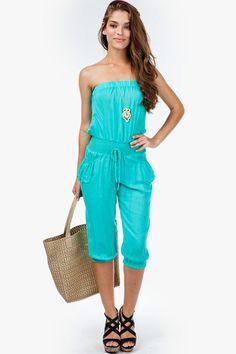 Patch Pocket Challis Crop Jumpsuit