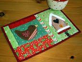 Winter Birdhouse mug rug- sew cute!