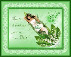 1er Mai Fête du Muguet - Créations Armony Creations, Bonheur, Spring, Cards