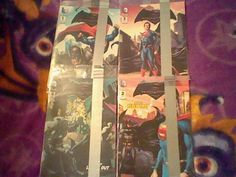 1,2,3,4  Batman vs Superman DC General Mills Cereal promo Comic lot,complete set