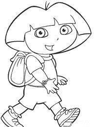 Dora the Explorer Color by Numbers English  Coloring Pages