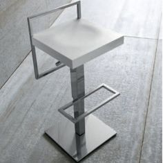 LoopAir Stool  It's a great stool that has both elements of modernity and tradition. Its low backrest reminds of the old stools in the Far West, but the design is very contemporary and will look great in a modernly-furnished kitchen or room in general.