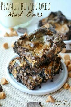 Peanut Butter Oreo Mud Bars (she: Cathy)