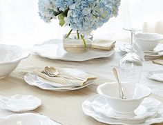 Q Squared NYC Ruffle Dinnerware Set | Christmas Tablescape