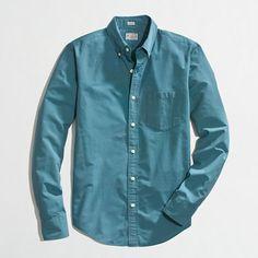J.Crew Factory - Factory slim washed shirt in horizontal microstripe - $31