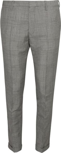 $630, Grey Wool Dress Pants: Paul Smith Grey Slim Fit Prince Of Wales Check Mohair And Wool Blend Suit Trousers. Sold by MR PORTER. Click for more info: http://lookastic.com/men/shop_items/197688/redirect