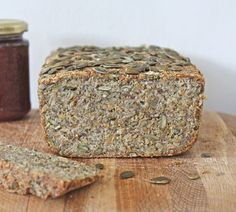almond, quinoa and sunflower seed bread.
