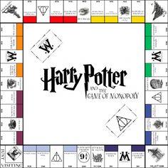 Harry Potter Monopoly board, Board or Dolls House size. A Lovely Handmade Harry Potter Monopoly Harry Potter, Harry Potter Thema, Cumpleaños Harry Potter, Harry Potter Classroom, Harry Potter Birthday, Monopoly Game, Monopoly Board, Harry Potter Board Game, Harry Harry