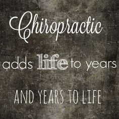 Add life to your years! #GetAdjusted #Chiropractic  http://DrHardick.com