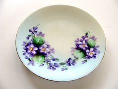 Favorite Bavaria Plate Hand Painted Porcelain by BlueMoonAttic