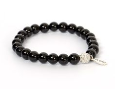 This stylish silver plated bracelet designed by Pilgrim