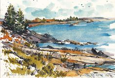Jennifer Lawson: Portland Maine watercolor