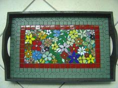 Bandeja Floral - Renata Ghellere - Curso e Venda de Peças em Mosaico - rghellere@hotmail.com - Terra Fotolog