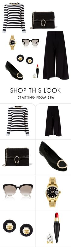 """""""Untitled #381"""" by nadiralorencia on Polyvore featuring Gucci, Victoria, Victoria Beckham, Roger Vivier, Christian Dior, Rolex, Chanel and Christian Louboutin"""