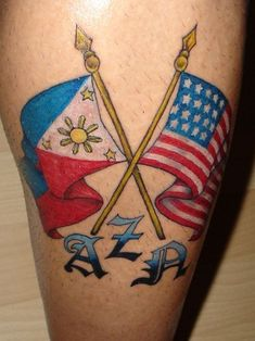I'd change the left flag to a Russian one and change the letters to my adoption date. #filipinotattoosflag