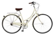 LINUS Dutchi 3 - cream, tan leather seat, natucket basket in front, picnic basket on back - one can dream!
