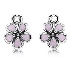 Pandora Ohrringe Kirschblüte 290675EN40 Sterling Silber Emaille