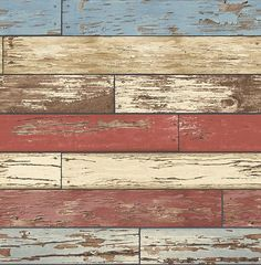 Scrap Wood Red Weathered Texture Wallpaper