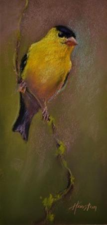 Listening Goldfinch by Amanda Houston #newworksoncopper