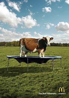 Quand McDo cours après une image plus saine... L'idée est top quand même ! McDonald's: The Real Milkshake