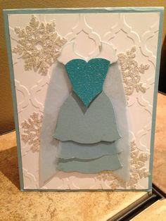 Princess Elsa Frozen Cards, Punch Art, Elsa, Stampin Up, Card Ideas, Card Making, Princess, How To Make, Stamping Up