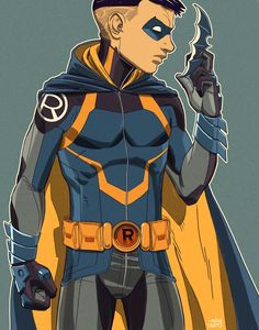 I despise the Damian Wayne character, but this is a nice costume redesign (- Mike Dimayuga)