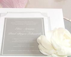 Wedding Invitation: VANCOUVER Wedding Invitation (Art Deco, 1930s, Geometric, Grey) SAMPLE. $5.25, via Etsy.
