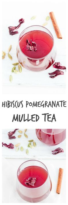 slow cooker pomegrante hibiscus mulled tea | Recipes From A Pantry